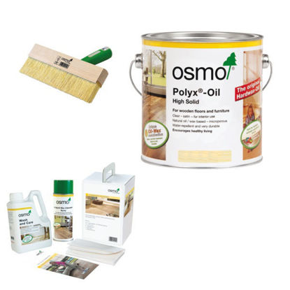 Picture of Osmo Opti-Set Mop, Wash & Care & Liquid Wax Cleaner 1L Combo
